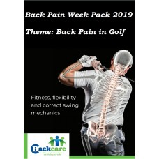 BackCare Awareness Week Display pack 2019 - Back pain in Golf