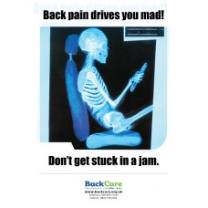 Back pain drives you mad! - A3 Skele Poster